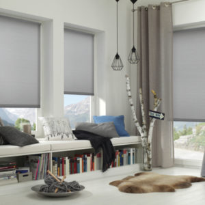 gardinia Easyfix roller blinds gray  living room