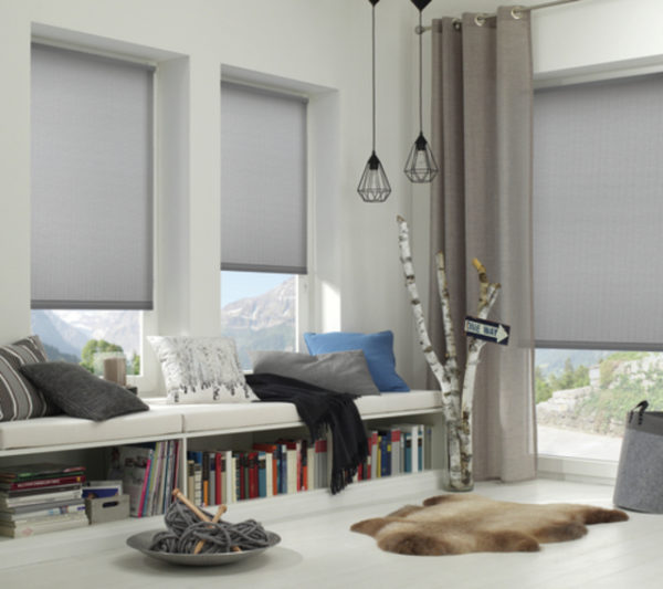 gardinia easyfix rollo grau wohnzimmer