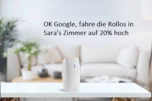 smart rollo google sprachsteuerung