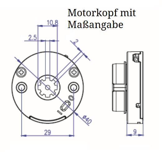 Assembly tubular motor electric roller blind