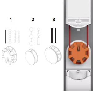 Jalousien Motor zubehör drehrad adapter